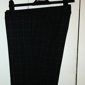 New York & Co career dress black pants with white